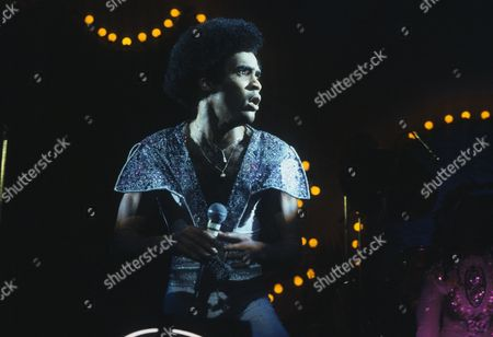 Boney M - Bobby Farrell in concert at the Hammersmith Odeon, London