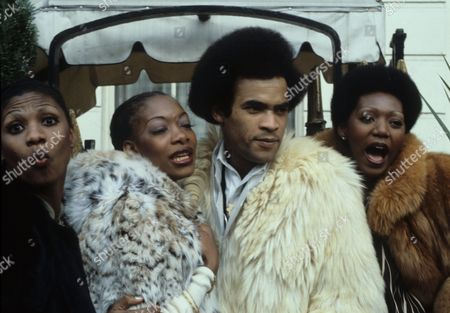 Boney M - Marcia Barrett, Maizie Williams, Bobby Farrell and Liz Mitchell at the Montcalm Hotel, London