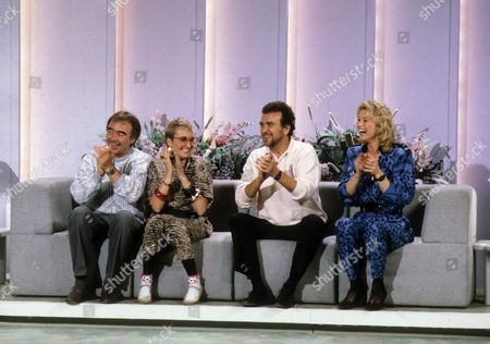 Stock Image of Chris Emmett, Sue Pollard, Tony Selby, and Gillian Taylforth.