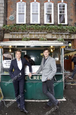 Editorial photo of Keybroker founders in Soho, London, Britain - 23 Feb 2011
