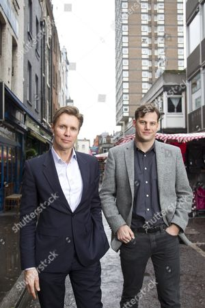 Editorial picture of Keybroker founders in Soho, London, Britain - 23 Feb 2011