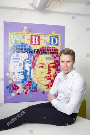 Fredrik Arnander, CEO of Keybroker in their London offices on Broadwick Street, Soho