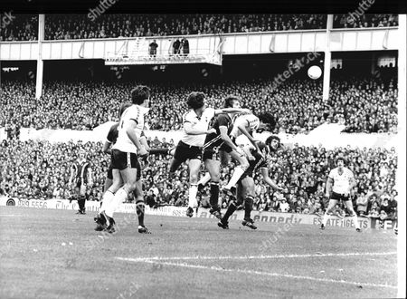Football 1978/79: League Game - Tottenham Hotspur 1 V Coventry 1. Tottenham's John Lacy Wins A Header.