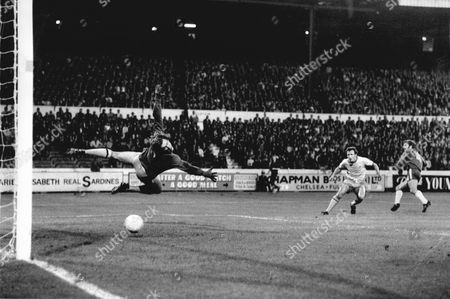 Editorial image of Football Club Games 1971-1972. Chelsea V West Bromwich Albion 1-0. John Hollis And Jim Cumbes
