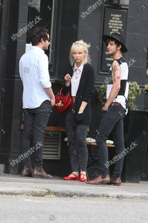 Editorial image of Ekaterina Ivanova, former girlfriend of Ronnie Wood outside a pub in Primrose Hill, London, Britain - 13 May 2011