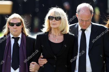 Editorial image of Gunter Sachs funeral, Saanen, Switzerland - 13 May 2011