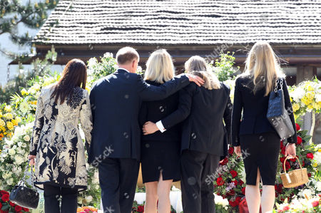 Editorial picture of Gunter Sachs funeral, Saanen, Switzerland - 13 May 2011