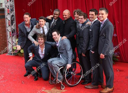 Stock Picture of Nick Pickard, Craig Vye, James Atherton, Law Thompson, Peter Mitchell, guest, Ashley Margolis, Dean Aspen, Danny Mac and PJ Brennan