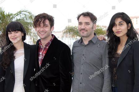 Nathalia Galgani, Diego Noguera, director Cristian Jimenez, and Gabriela Arancibia