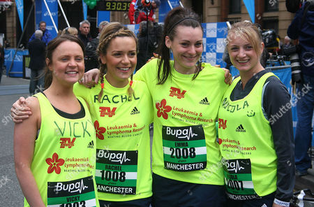 Vicky Binns (far left) and Rachel Leskovac Nicola Wheeler (far right)