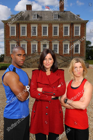 Trainers Richard Callender and Angie Dowds with presenter Davina McCall