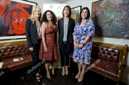 Gaby Roslin, Jo Manuel (founder of The Special Yoga Centre), Samantha Cameron and Kirstie Allsopp