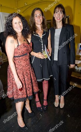 Jo Manuel (founder of The Special Yoga Centre), Victoria Andreae and Samantha Cameron
