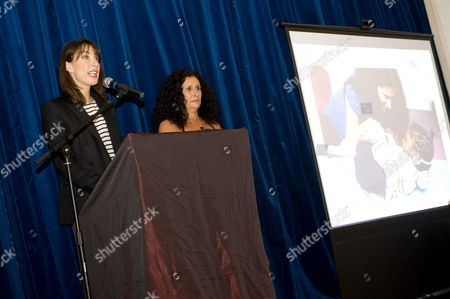 Samantha Cameron and Jo Manuel (founder of The Special Yoga Centre)