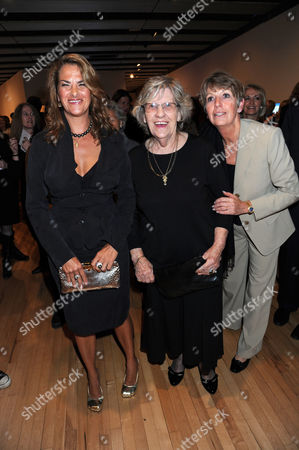Tracey Emin and her mother, Pamela Cashin and guest