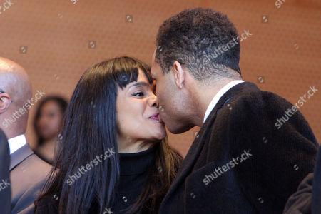 Stock Image of Alderman Sandi Jackson and husband Congressman Jesse Jackson Junior