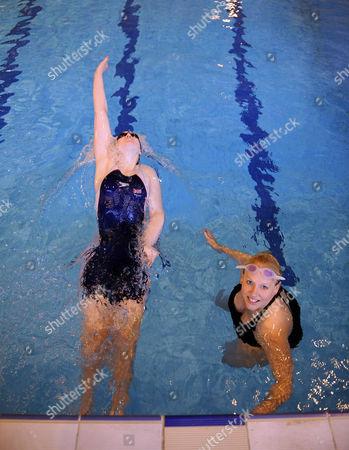 Magnificent 7 Rachael Latham With Gail Emms Aldershot Aquatics Centre Synchronised Swimming