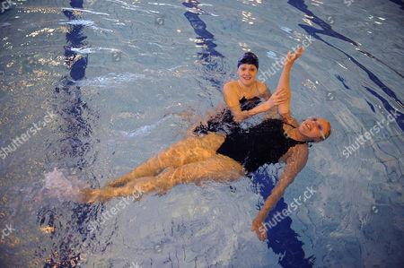 Magnificent 7 Rachael Latham With Gail Emms Aldershot Aquatics Centre