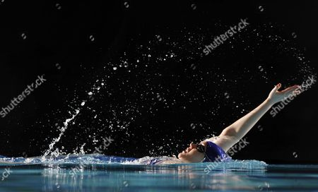 Editorial photo of Magnificent 7: Rachael Latham Swimming The Backstroke. Pic Andy Hooper