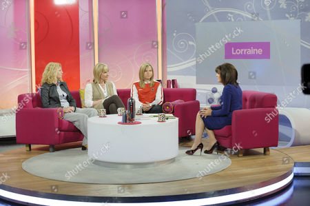 Stock Picture of Alyson Rudd, Christine Walker and Alyshia Walker with Lorraine Kelly..