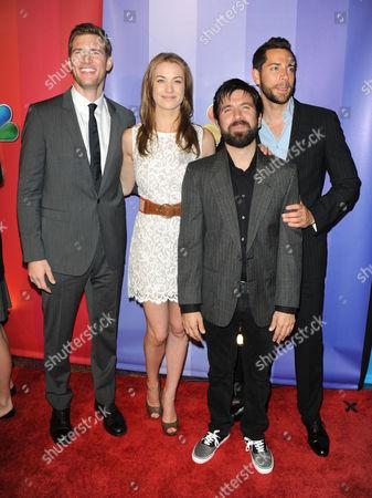 Stock Image of Ryan McPartlin and Yvonne Strahovski and Zachary Levi and Joshua Gomez
