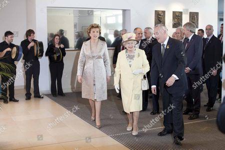 President Mary McAleese, Queen Elizabeth II and GAA President Christy Cooney at Croke Park