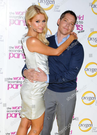 Stock Image of Paris Hilton and boyfriend Cy Waits