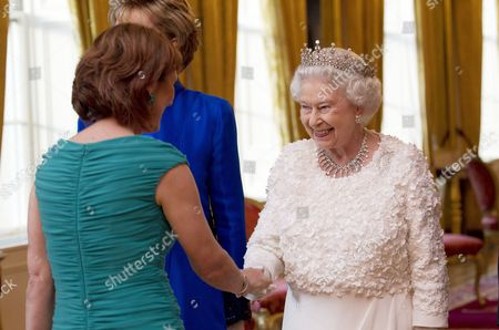 Iris Robinson and Queen Elizabeth II at the State Dinner in Dublin Castle.
