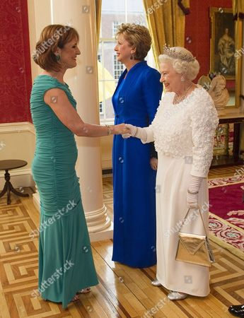 Iris Robinson, Mary McAleese and Queen Elizabeth II at the State Dinner in Dublin Castle.