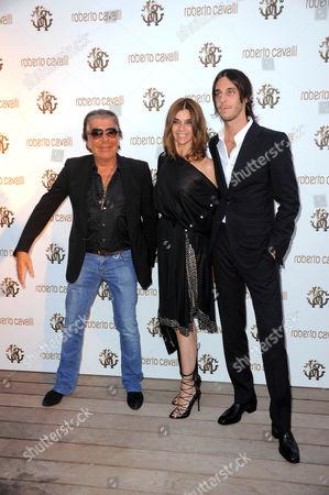 Roberto Cavalli, Carine Restoin-Roitfeld and Vladimir Restoin-Roitfeld
