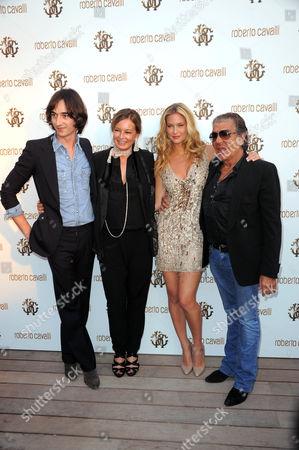 Daniele Cavalli, Eva Cavalli, Bar RAFAELI and Roberto Cavalli