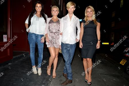 Stock Picture of Jessica Wright, Billy Faiers Harry Derbidge and Sam Faiers