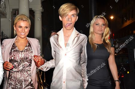Editorial picture of 'The only way is Essex' cast members leaving Zenna bar, London, Britain - 18 May 2011