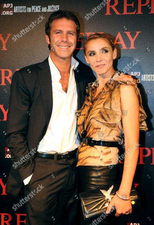 Stock Image of Clotilde Courau and Emmanuel Philibert de Savoie