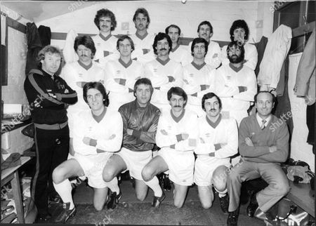 Altrincham Football Club 1980 Back L-r Jeff Johnson Malcolm Bailey Ivan Crossley John Davidson Barry Howard. Centre L-r Peter Warburton Trainer John Rogers John Owens Graham Barrow Graham Tobin John King. Front L-r Barry Whitbread John Connaughton Stan Allan Graham Heathcote And Manager Tony Sanders