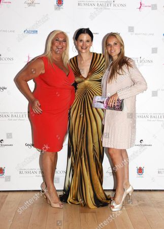 Vanessa Feltz and daughter Allegra Kurer, with Olga Balakleets in centre