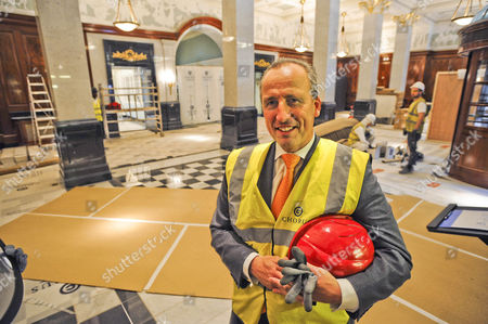 Kiaran MacDonald, The General Manager at The Savoy Hotel, during reconstruction
