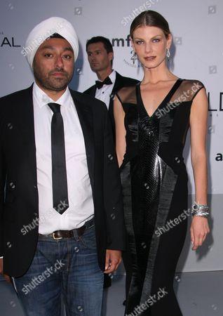 Vikram Chatwal and Angela Lindvall