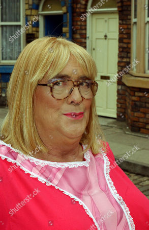 Coronation Street: 25th  August 2004  Jack has agreed to dress as a woman to play in the bowls final.  Pictured:Jack Duckworth/Ida Fagg [William Tarmey].