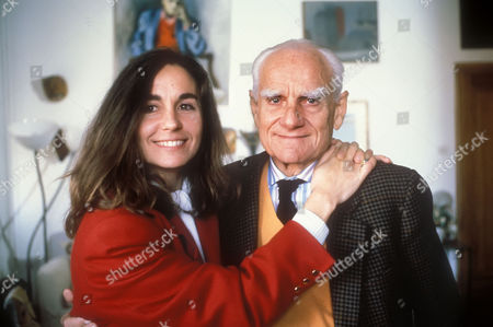 Stock Image of Alberto Moravia with Wife Carmen Llera