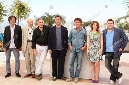 Liron Levo, Heinz Lieven, Judd Hirsch, Director Paolo Sorrentino, Sean Penn, Eve Hewson and Simon Delaney