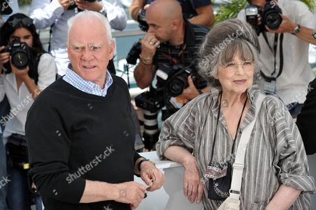 Malcolm McDowell and Christiane Kubrick