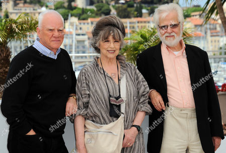 Malcolm McDowell, Christiane Kubrick and Jan Harlan