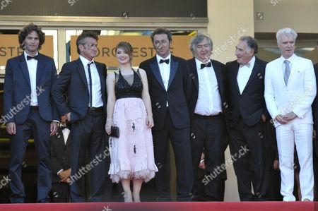 Liron Levo, Sean Penn, Eve Hewson, Paolo Sorrentino, guest, Judd Hirsch and David Byrne