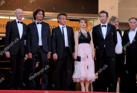 Heinz Lieven, Liron Levo, Sean Penn, Eve Hewson and Paolo Sorrentino