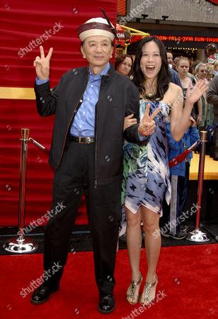 James Hong and daughter April Hong