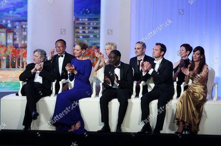 Nansun Shi, Jury President Robert De Niro, Linn Ullmann, Mahamat-Saleh Haroun, Martina Gusman, Olivier Assayas and Uma Thurman