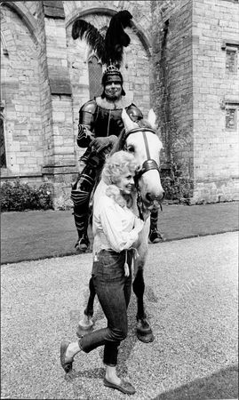 Stock Picture of Donna Douglas & Max Baer Jr. Of The Beverley Hillbillies Television Show At Penshurst Place Kent.