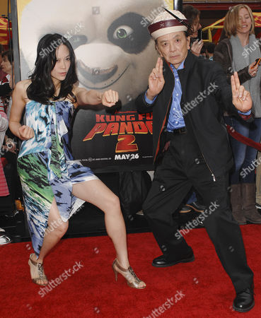 James Hong and daughter April Hong