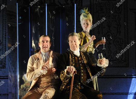'School for Scandal'  - Stephen Kennedy (Crabtree), Alan Howard (Sir Peter Teazle) and Vicki Pepperdine (Mrs Candour)